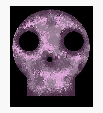 Purple Skull Decay Photographic Print
