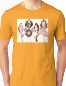Psychedelic Progressive Rock Band 60's 70's Caricature Unisex T-Shirt