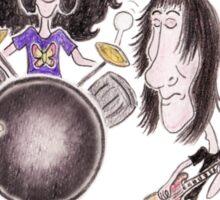 Psychedelic Progressive Rock Band 60's 70's Caricature Sticker