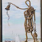 Dali Ropeman and Bell Tower sign by Woodie