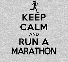 Keep Calm and Run a Marathon Female (DS) Womens Fitted T-Shirt