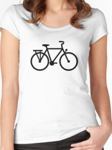 Bike Bicycle Women's Fitted Scoop T-Shirt