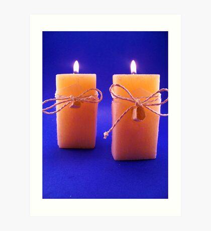 Twin Candles Art Print