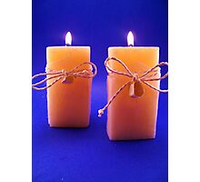 Twin Candles Photographic Print