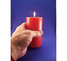 Candle holder Photographic Print