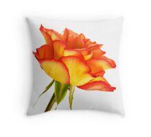Autumn Splendor Rose Throw Pillow