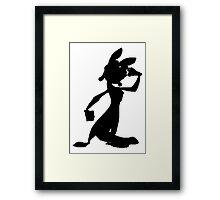 Daxter Silhouette - Black Framed Print