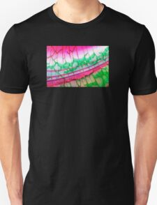 Pink Green Dragon Vein Agate Pattern T-Shirt
