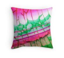 Pink Green Dragon Vein Agate Pattern Throw Pillow