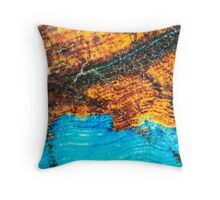 Blue and Brown Agate Pattern Throw Pillow