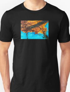 Blue and Brown Agate Pattern T-Shirt