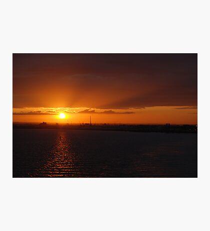 Hull sunset Photographic Print