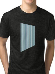 Glitch Homes Wallpaper blue stripes left Tri-blend T-Shirt