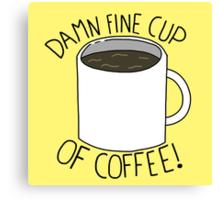 Damn Fine Cup Of Coffee - Twin Peaks Canvas Print