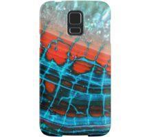Blue Red Dragon Vein Agate Pattern Samsung Galaxy Case/Skin