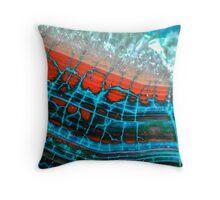 Blue Red Dragon Vein Agate Pattern Throw Pillow