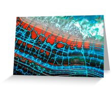 Blue Red Dragon Vein Agate Pattern Greeting Card