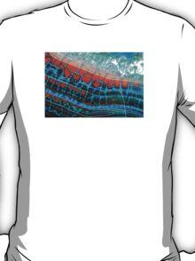 Blue Red Dragon Vein Agate Pattern T-Shirt