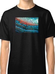 Blue Red Dragon Vein Agate Pattern Classic T-Shirt