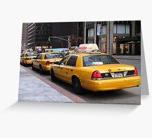Taxi Taxi Taxi Greeting Card