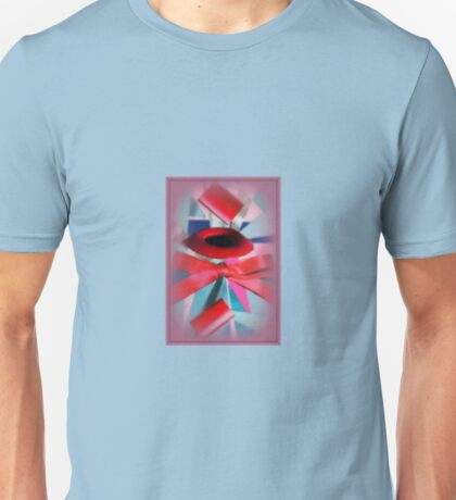 red parts and blue influence Unisex T-Shirt