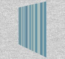 Glitch Homes Wallpaper blue stripes right One Piece - Long Sleeve
