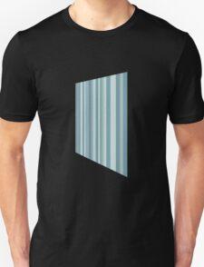Glitch Homes Wallpaper blue stripes right Unisex T-Shirt