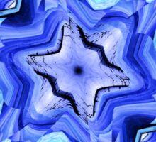 Blue Snow Flake Sticker