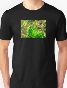Green Sea Sediment Agate Pattern T-Shirt