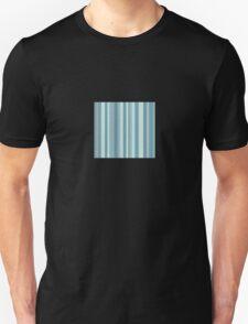 Glitch Homes Wallpaper blue stripes swatch Unisex T-Shirt