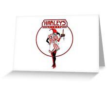 Eat at harleys  Greeting Card