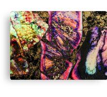 Abstract Graffiti Sea Sediment Agate Pattern Canvas Print
