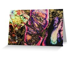 Abstract Graffiti Sea Sediment Agate Pattern Greeting Card
