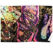 Abstract Graffiti Sea Sediment Agate Pattern Poster