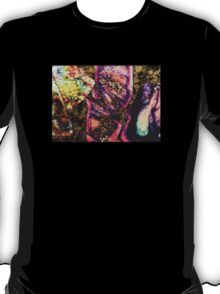 Abstract Graffiti Sea Sediment Agate Pattern T-Shirt