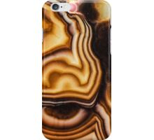 Pink Brown Turritella Agate Pattern iPhone Case/Skin