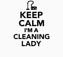 Keep calm I'm a cleaning lady Womens Fitted T-Shirt
