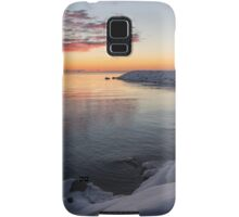 Small Cove Pink and Snowy Dawn Samsung Galaxy Case/Skin