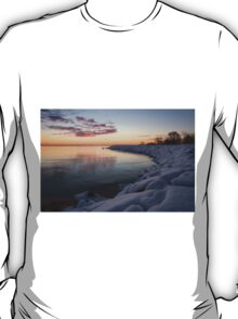 Small Cove Pink and Snowy Dawn T-Shirt