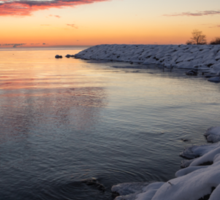 Small Cove Pink and Snowy Dawn Sticker