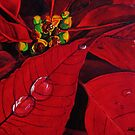Big Red Poinsettia by Leslie Gustafson
