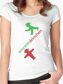 ampelmännchen Women's Fitted Scoop T-Shirt