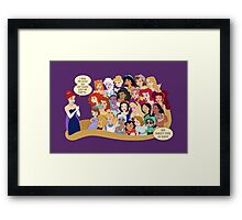 She Doesn't Even Go Here! Framed Print