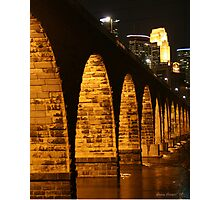 Minneapolis Stone Arch Bridge Photographic Print