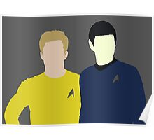 Spock and Kirk Poster