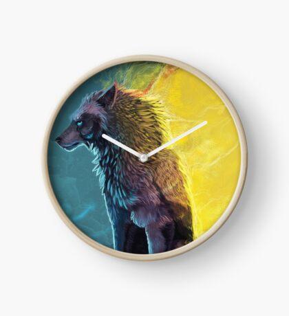 Wolf the dreamer Clock
