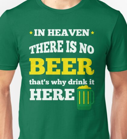 Saint Patrick's Day quote Unisex T-Shirt