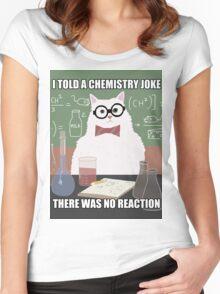 Chemistry Cat - Funny Meme - Internet Meme Women's Fitted Scoop T-Shirt