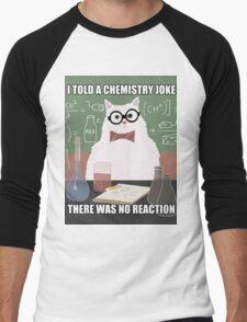Chemistry Cat - Funny Meme - Internet Meme Men's Baseball ¾ T-Shirt