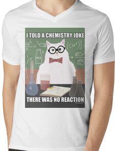 Chemistry Cat - Funny Meme - Internet Meme Mens V-Neck T-Shirt
